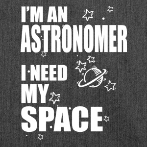 Astronomer i need space - Schultertasche aus Recycling-Material