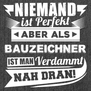 Niemand is perfect - tekenaar T-shirt - Schoudertas van gerecycled materiaal