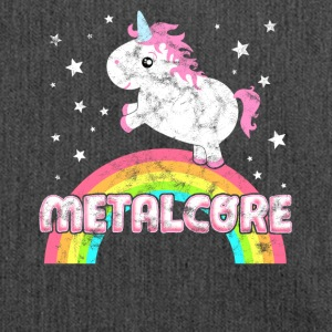 Cool Ironic Metalcore music unicorn - Shoulder Bag made from recycled material