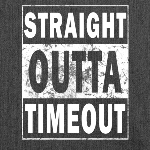 Straight outta time-out! - Schoudertas van gerecycled materiaal