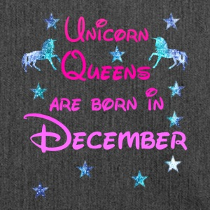 Unicorn Queens born december december unicorn - Shoulder Bag made from recycled material