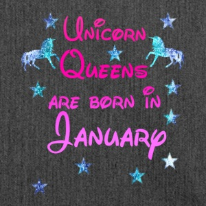 Unicorn Queens born January january - Shoulder Bag made from recycled material