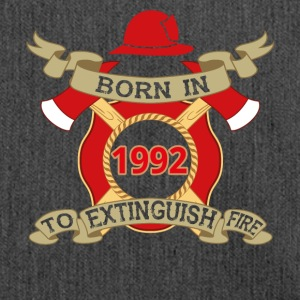 Born 1992 Fire fire brigade - Shoulder Bag made from recycled material