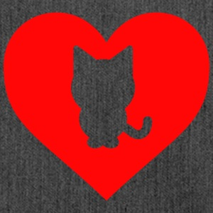 Cat cuore - Borsa in materiale riciclato