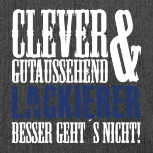 Clever, gutaussehend & Lackierer - Schultertasche aus Recycling-Material