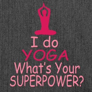 I do Yoga whats your superpower? - Schultertasche aus Recycling-Material