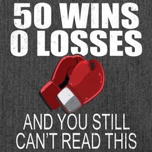 50 Wins 0 Losses Lustiges Boxing T-Shirt - Schultertasche aus Recycling-Material
