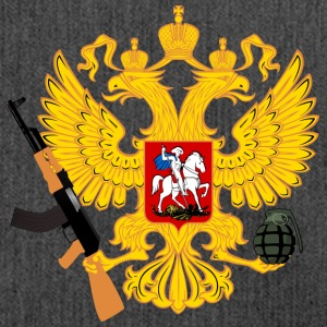 Russia Coat of arms with Kalashnikov and handgranate - Shoulder Bag made from recycled material