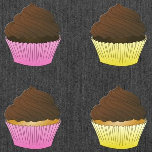Cupcakes - Schultertasche aus Recycling-Material