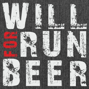 Will Run For Beer - Schultertasche aus Recycling-Material