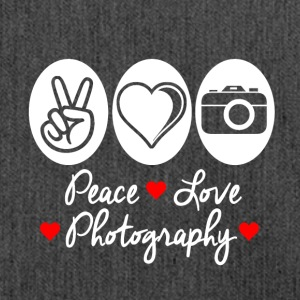 Peace Love Photography - Shoulder Bag made from recycled material