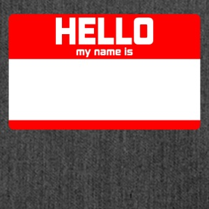 HELLO MY NAME IS ... - Schultertasche aus Recycling-Material