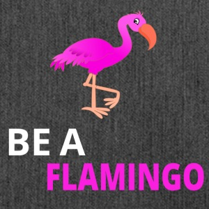 Be A Flamingo - Schultertasche aus Recycling-Material