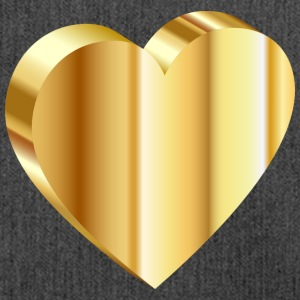 Heart of Gold - Schoudertas van gerecycled materiaal