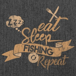 Eat Sleep PESCA REPEAT - Borsa in materiale riciclato