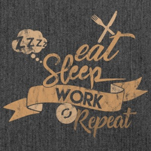 EAT SLEEP WORK REPEAT - Schultertasche aus Recycling-Material