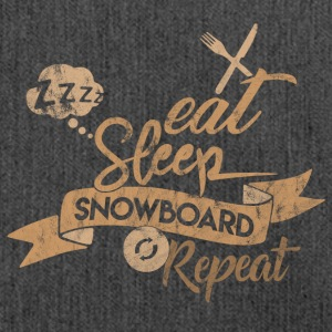 Eat Sleep SNOWBOARD REPEAT - Borsa in materiale riciclato