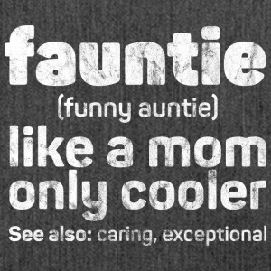 Fauntie - Funny Auntie used look - Shoulder Bag made from recycled material