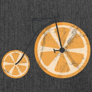 Fruit / Fruit: orange - orange bicycle - Shoulder Bag made from recycled material