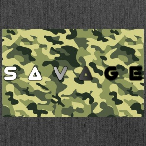 Savage camo premium - Shoulder Bag made from recycled material