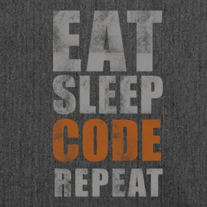 EAT SLEEP CODE REPEAT - Shoulder Bag made from recycled material