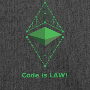 Ethereum Classic - Code is LAW! - Shoulder Bag made from recycled material
