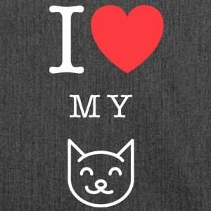 I <3 my Cat Katze Haustier - Schultertasche aus Recycling-Material