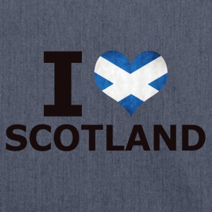 I LOVE SCOTLAND FLAG - Schultertasche aus Recycling-Material