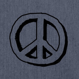 Peace hippie logo - Borsa in materiale riciclato