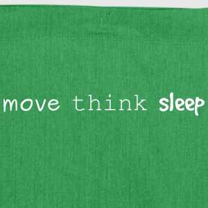 move think sleep - Schultertasche aus Recycling-Material