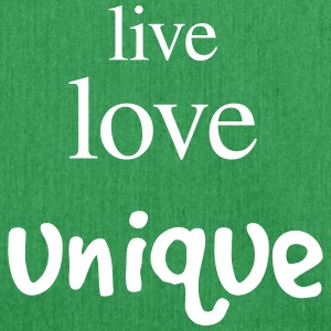 Live love unique - Shoulder Bag made from recycled material
