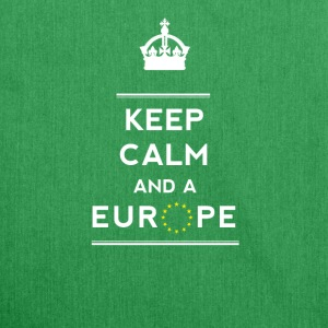 keep calm and Europe Love eu Europe Star fun demo - Shoulder Bag made from recycled material