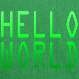 Hello World - Schultertasche aus Recycling-Material