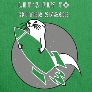 LET'S FLY Otter SPACE ROCKET Transparent - Axelväska av återvinningsmaterial