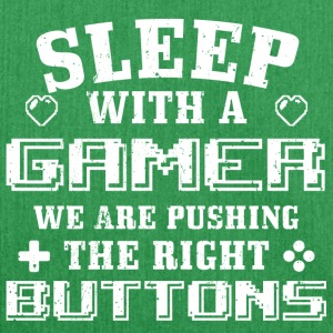 Funny Gamer Gaming Shirt Sleep With me - Schultertasche aus Recycling-Material