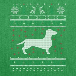 Dachshund Ugly Xmas Sweater Geschenk Christmas - Schultertasche aus Recycling-Material