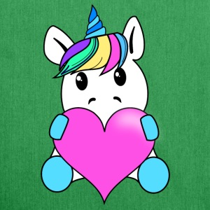 Unicorn with heart - Shoulder Bag made from recycled material