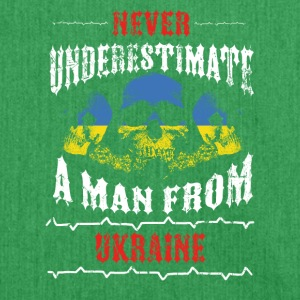never underestimate man UKRAINE - Shoulder Bag made from recycled material