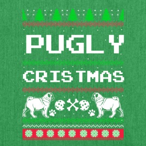 Pugly Christmas - Shoulder Bag made from recycled material
