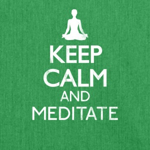 Keep calm and meditate - Meditation shirt - Shoulder Bag made from recycled material