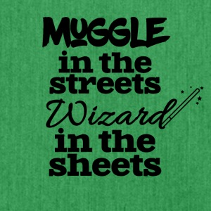 Muggle in the streets wizard in the sheets - Shoulder Bag made from recycled material