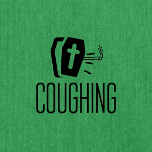 A coughing coffin - Schultertasche aus Recycling-Material