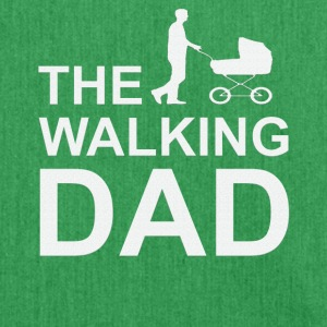 Walking Dad Series Father Son Daughter Christmas - Shoulder Bag made from recycled material