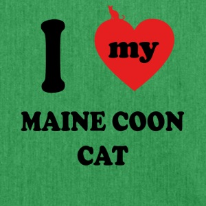 I Love Maine coon kat kitty Katzenmama - Skuldertaske af recycling-material