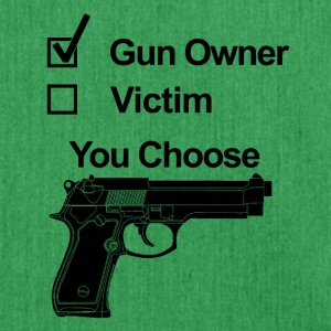 gun owner victim you choose - Schultertasche aus Recycling-Material