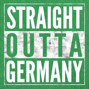 STRAIGHT OUTTA GERMANY Deutschland lustige Shirt - Schultertasche aus Recycling-Material