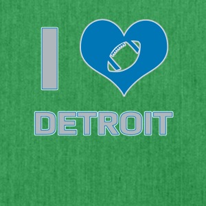 I love Detroit - Schultertasche aus Recycling-Material