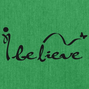 ibelieve - Schultertasche aus Recycling-Material