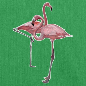 2 Flamingos - Schultertasche aus Recycling-Material