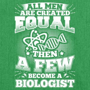 Funny Biology Shirt All Men Equal - Shoulder Bag made from recycled material